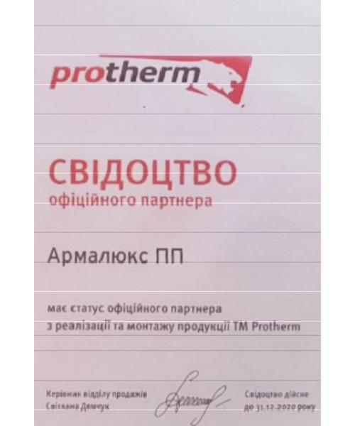 Газовый котел Protherm Пантера 12 KTO + труба