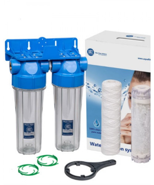 Магистральный фильтр Aquafilter FHPRCL34-B1-TWIN