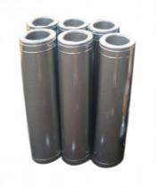 Труба с теплоизоляцией 1 м для дымохода нерж/оцинк AISI 321 (0,8 мм)