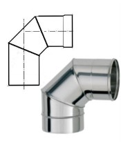 Колено для дымохода нержавейка 90° AISI 201 (0,8 мм)