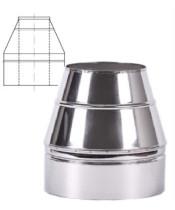 Конус термо нерж/нерж для дымохода AISI 201 (0,5 мм)