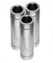 Труба с теплоизоляцией 1 м нерж/оцинк для дымохода AISI 304 (0,8 мм)