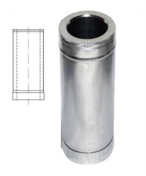 Труба с теплоизоляцией 1 м нерж/оцинк для дымохода AISI 201 (0,8 мм)
